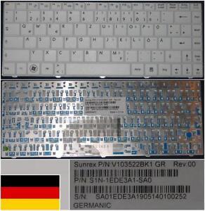 Clavier-Qwertz-Allemand-Medion-S3211-MSI-X300-S1N-1EDE3A1-SA0-V103522BK1-Blanc