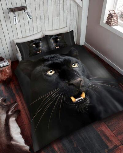 3D ANIMAL DUVET QUILT COVER PILLOW CASES BEDDING SET SINGLE DOUBLE KING