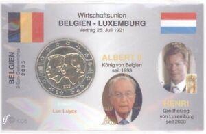 2 Euro Coincard / Infokarte Belgien 2005 Wirtschaftsunion