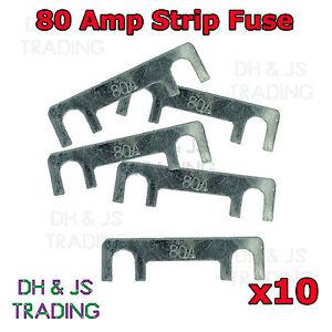 80A 80 Amp Metal Strip Fuse 12V Car Auto Fuse Fuses