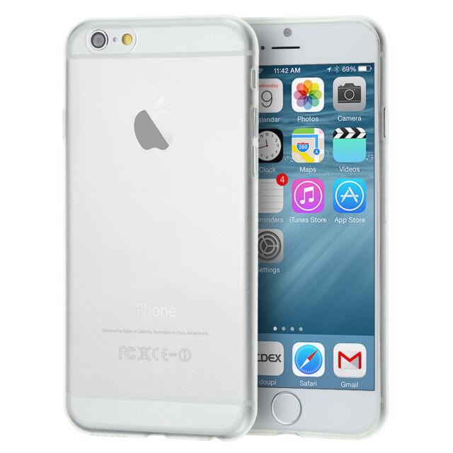 UltraSlim Case iPhone 6 6s Plus Matt / Clear Schutz Hülle Folie Cover Schale