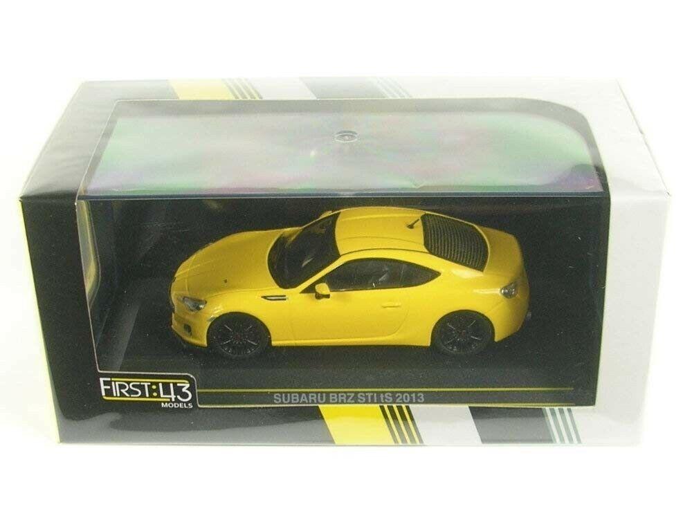 First 43 Mini Voiture F43-079 1 43 SUBARU BRZ STI TS 2013 jaune produit fini