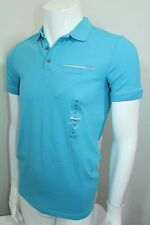 Calvin Klein Extreme Slim Fit Polo Shirt NWT Color Blue Body -Enhancing Sz Small