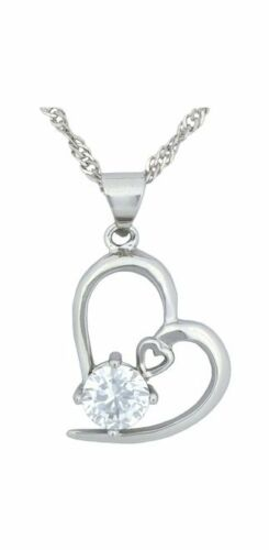 Necklace Women Sterling Silver Pendant Chain Charm Crystal Fashion Valentine/'s