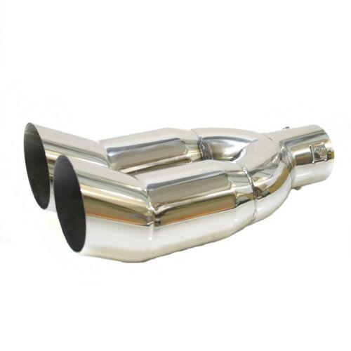 Doble Deflector Tubo de Escape Acero para Opel Antara Astra Combo Insignia