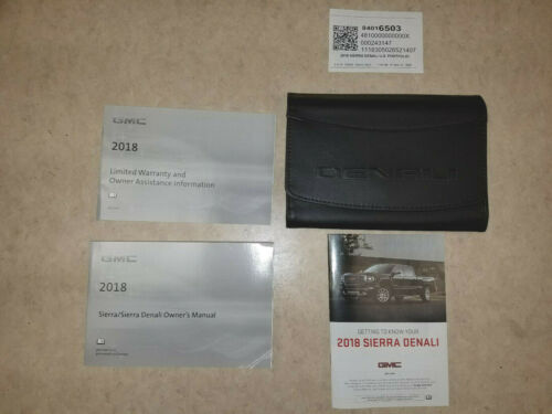 2018 GMC Sierra Denali Owners Owner/'s Owner Manual Book Portfolio 84016503 NEW