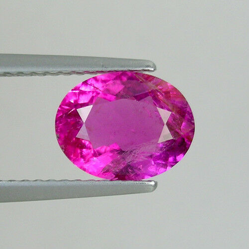 1.76 ct  OUTSTANDING LUSTROUS BEST SWEET PINK 100% NATURAL RUBELITE GEMS  Oval !