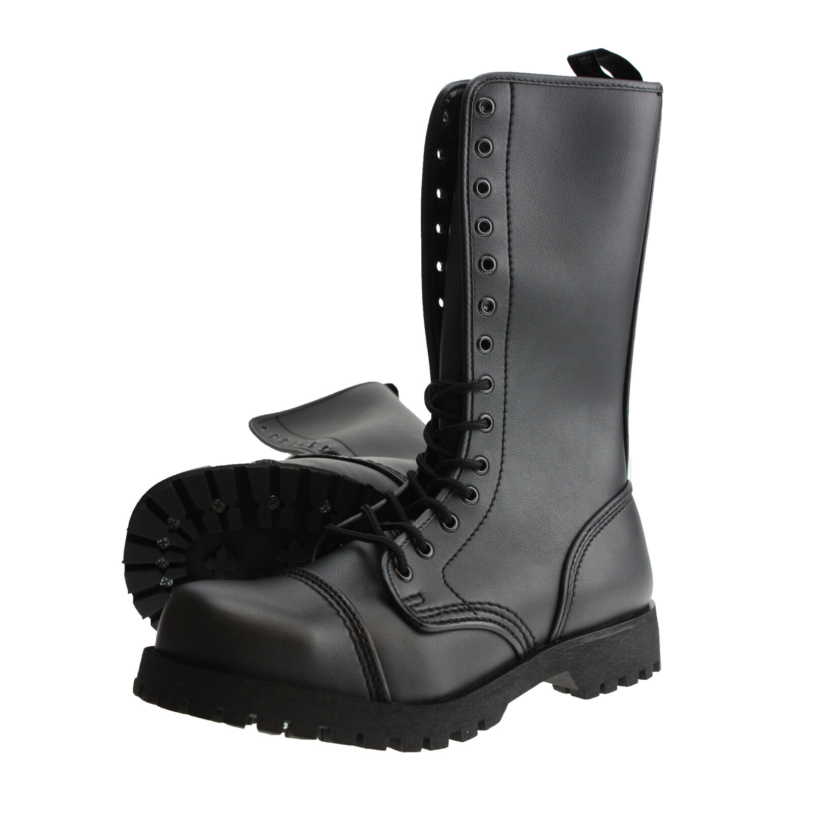 Boots and Braces 14 Loch Vegetarian Vegi Vegan Stiefel Boot black Stahlkappen