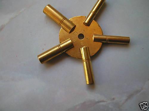 /'NEW/' brass spider clock key sizes 3.5.7.9.11