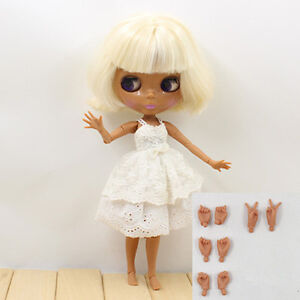 """12""""Neo Blythe Short Hair from Factory Joint Body NudeDoll+Gift(hands) JS97002"""