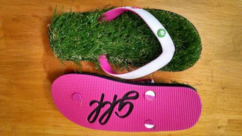 XXS Child US up to 3 Grass Flip Flops Pink//White Comfortable Unisex Shoes Kids