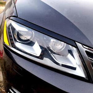ABS-Scheinwerferblenden-Boeser-Blick-Spoiler-Blende-Fuer-VW-Passat-B7-ab-bj-2010