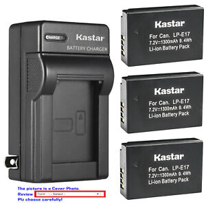 Kastar-Battery-AC-Wall-Charger-for-Canon-LP-E17-LC-E17-amp-Canon-Rebel-T6i-Camera