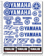 YZ YZF Yamalube decals set 9.4x12.6 in 29 stickers yz-f 450 250 motocross 85 125