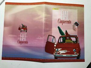 2007-Folder-Poste-FIAT-500-Cinquecento-con-Lamina-Argento-Silver-Italy-Italie