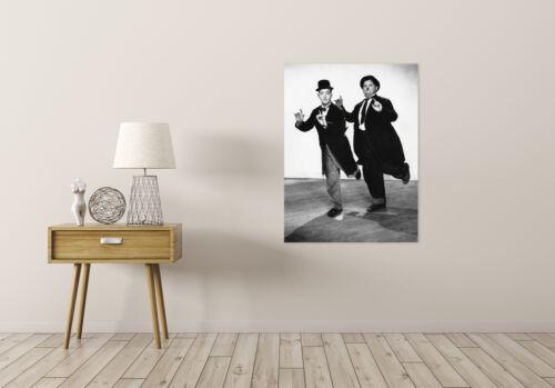 Movie Film Legends Laurel Hardy Silent Comedy Dancing Canvas Art Print