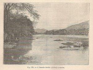 Obligeant A2782 Il Ganale Guddà A Monte - Xilografia - Stampa Antica Del 1895 - Engraving