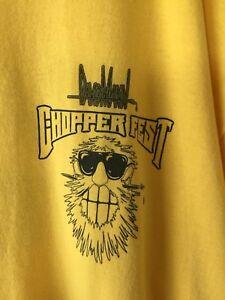 Chopper-Fest-Event-Staff-Tee-Shirt-Yellow-Men-039-s-2XL-NWOT