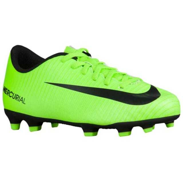 528f6874f47a Nike Jr Mercurial Vortex iii FG Youth Soccer Cleats Shoes Neon Green Sz 5.5  NEW!
