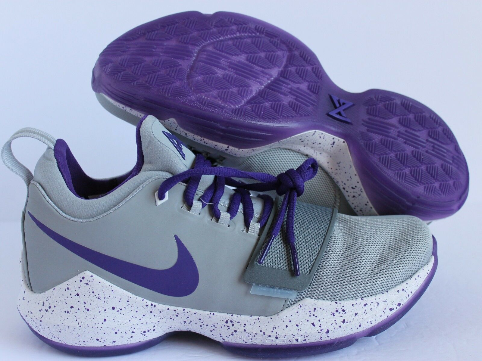 Nike PG 1 Paul George id Gris Morado Blanco Blanco Blanco reducción de precio 4d0613