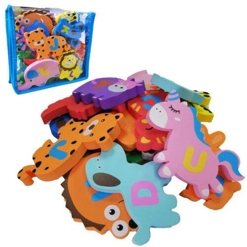 Bañera Baño del bebé juguetes educativos de espuma flotante con forma de animales alfabeto 26pc Bolsa Seca
