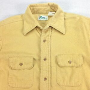 vtg-70s-80-039-s-Nicely-Faded-Chamois-Camp-Work-Shirt-Mens-MEDIUM-Union-Made-in-USA