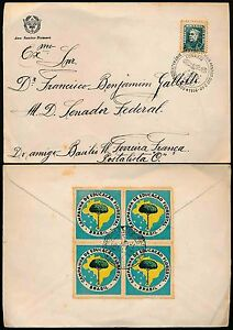 BRAZIL 1956 AIRCRAFT CANCEL + CAMPANHA de EDUCACAO FLORESTAL BLOCK