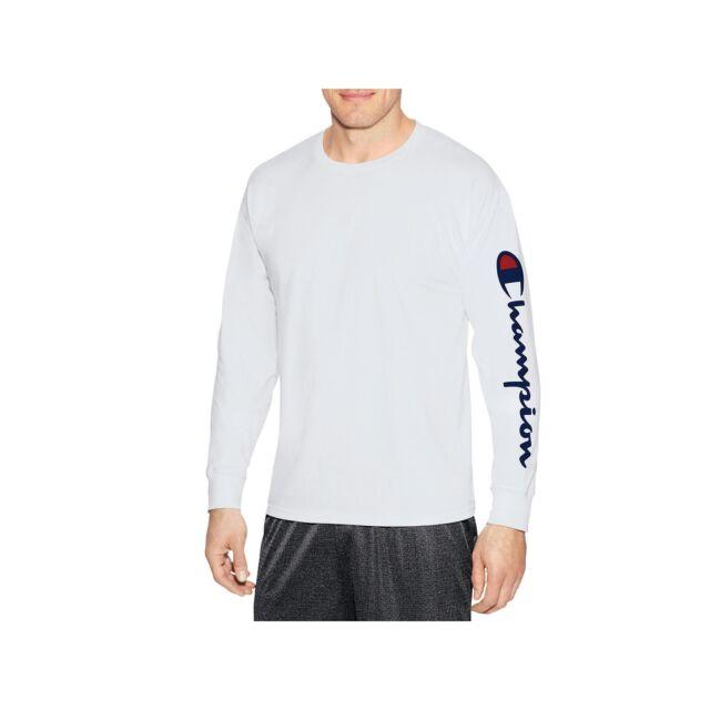 Champion Men s Classic Jersey Long Sleeve Graphic T-shirt - 21 Design  Choices White Arm Script 2xl f5faedd2618