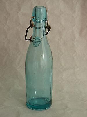 petite bouteille à limonade ou bière ancienne en verre vert