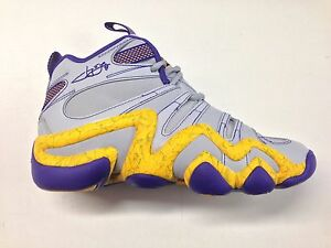 best website 3c39c c5361 Image is loading Adidas-Kobe-Crazy-8-Jeremy-Lin-Grey-Yellow-