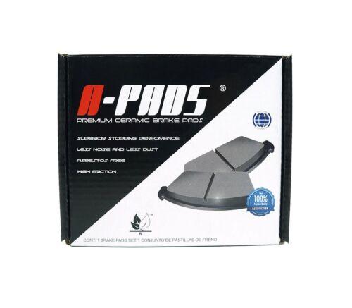 COMPLETE SET 4 PIECES A-PADS A7774D966 FRONT PREMIUM CERAMIC BRAKE PADS