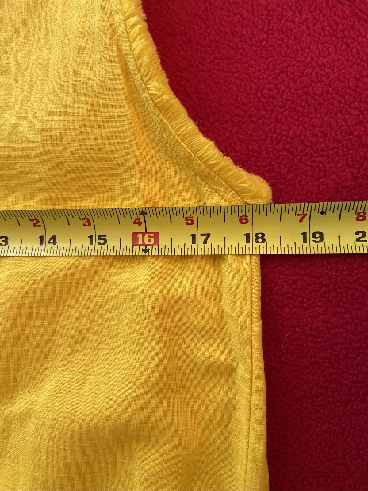 floryday bright yellow linen shift dress size med… - image 8