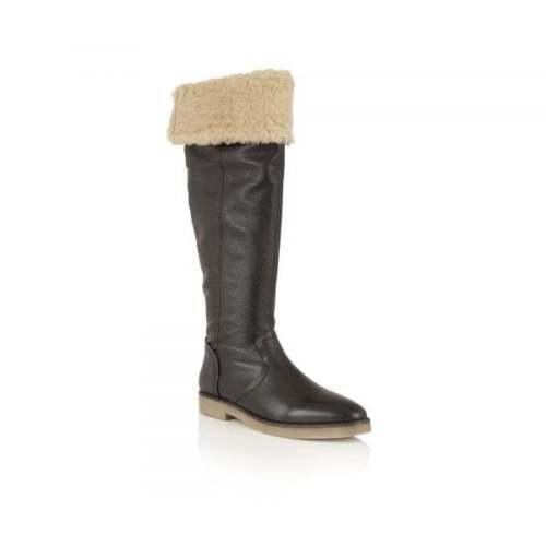 Ladies Ravel Briscoe Cheap Low Heel Flat Knee High Boots Black Leather UK size 3