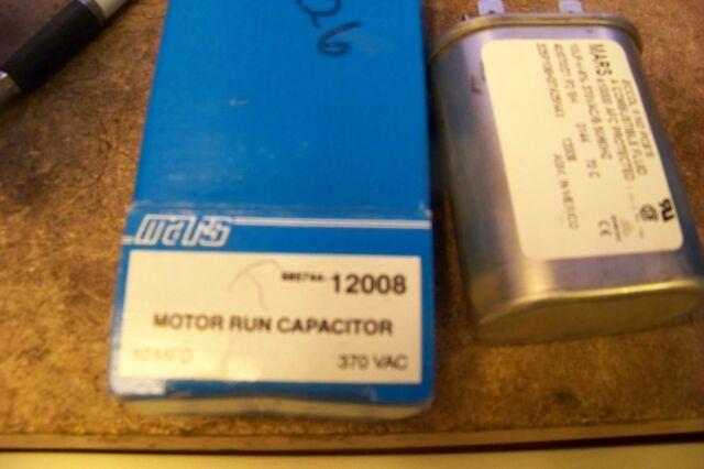 Lot of 2 Mars Motor Run Capacitor 10 MFD 370VAC 12008 Sonstige