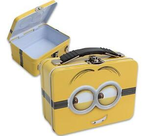 Minion DESPICABLE ME Lunch Box Tote Pencil Case Metal Can Pale Embossed 5.5'