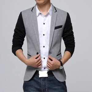 New Men Blazer Coat Casual Party Wedding Club Wear