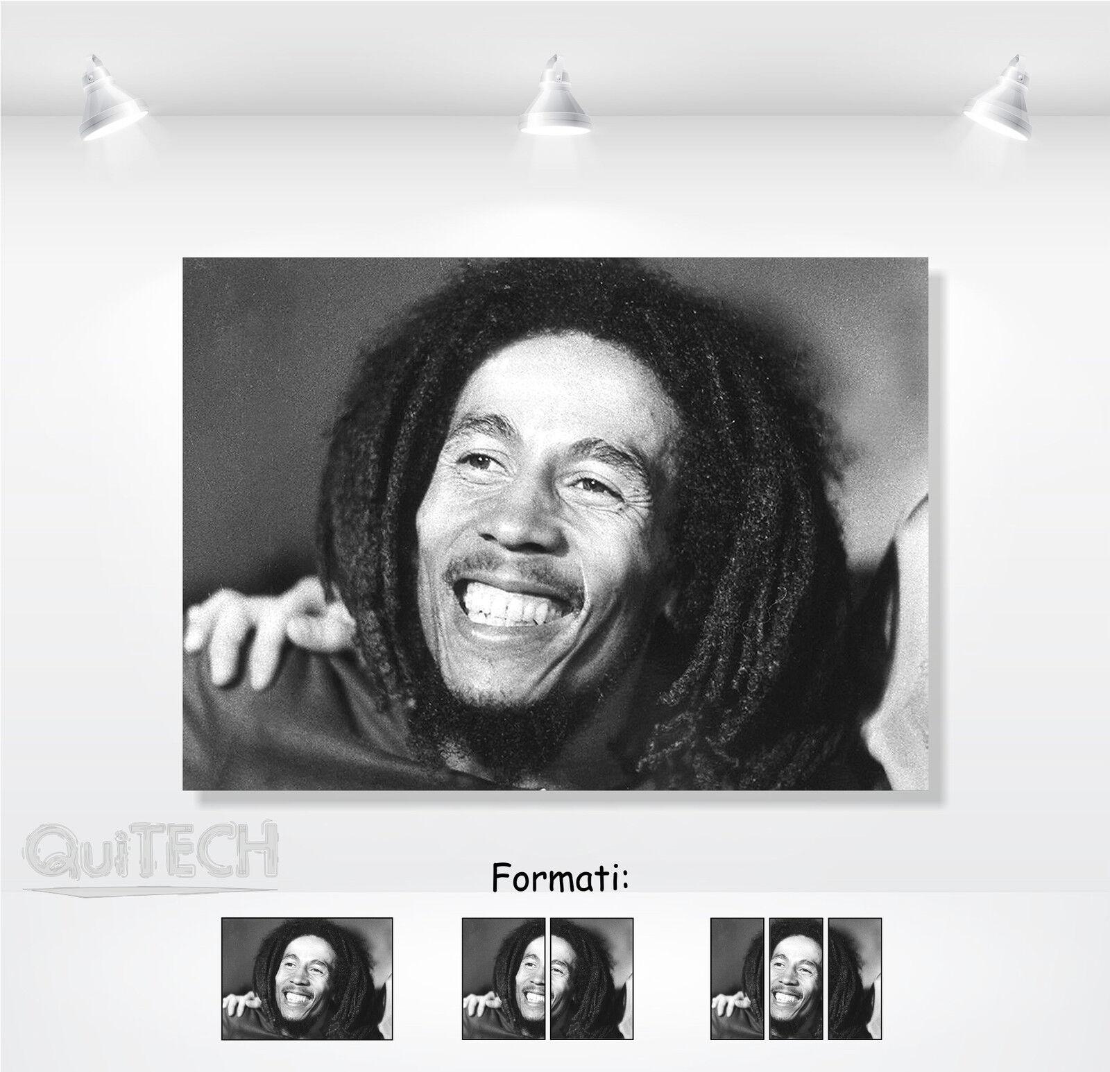 Bob Marley Pelle - 6 - Quadro stampa su Tela Pelle Marley Canvas Dipinto Arte Moderna e2e818