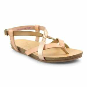 Details about Blowfish Granola B Blond Pearl Rose Gold Flat Sandals New Size UK Vegan
