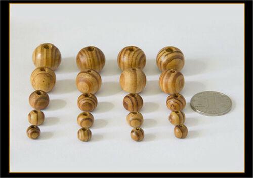 Wood Beads Charm Round Loose Spacer Bead For European Bracelet Jewelry DIY hi