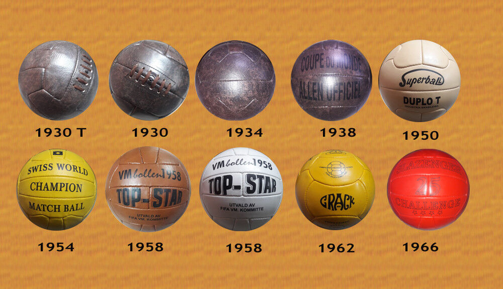 1930 – 1966 WORLD CUP BALLS LOW COST VERSION (pre ADIDAS)