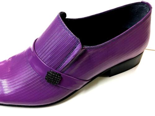 Lila Slipper Ausgefallener Ledersohle Purple 42 Herrenschuh Unikat Chelsy Leder dwInq1wE