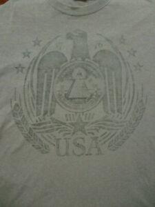 Details about L blue ILLUMINATI USA t-shirt by GILDAN - ALL SEEING EYE -  dollar money
