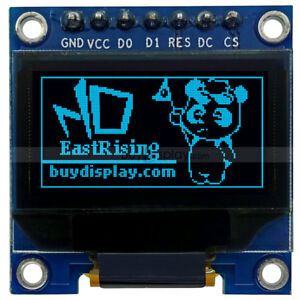 Blue 0 96 Oled Display Module I2c Serial Spi 128x64 For Arduino W