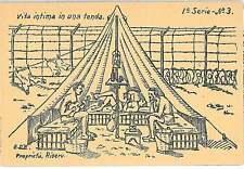 CARTOLINA d'Epoca - D'ELIA : Campo Prigionieri in Egitto FAYED - Serie 1 N. 3