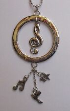 g Music Note wherever she goes She must CAR CHARM REAR VIEW MIRROR ORNAMENT Ganz