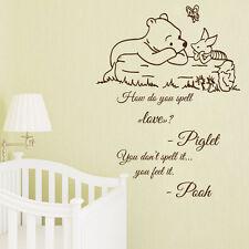 Wall Decal Quote Winnie the Pooh Decals Kids Vinyl Sticker Nursery Decor kk819