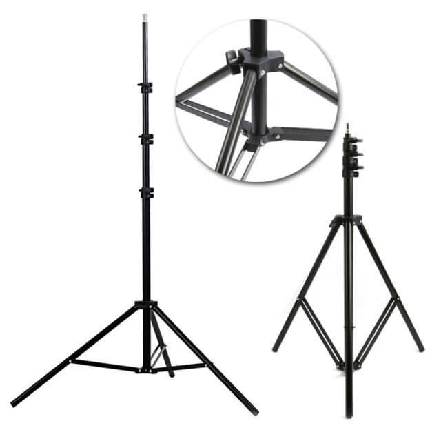 Black 2m Aluminum Photo/Video Tripod Light Stand For Studio Kit Lights