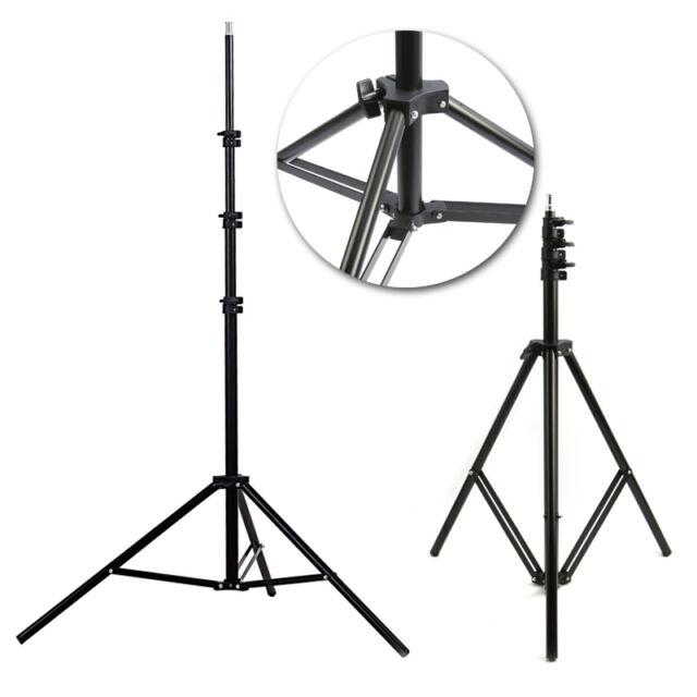 2M Aluminum Photo/Video Tripod Light Stand For Studio Kit Lights Black