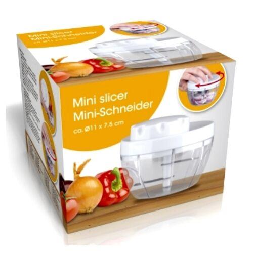 Mini-Schneider Zwiebel Gemüse Paprika Knoblauch Tomaten-Schneider Häcksler rund