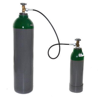 Umfüllschlauch f Gasflasche Argon Schutzgas Stickstoff Druckluft 1m Umfüllbogen